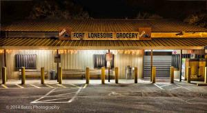 This picture is of Fort Lonesome Grocery in the town of Lithia.