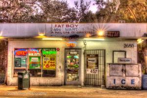 This picture is of Fat Boy Mini-Mart in the town of St. Petersburg.