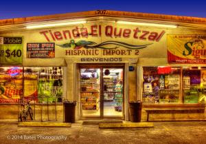 This picture is of Tienda El Quetzal in the town of Immokalee.